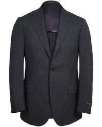 Ring Jacket - Dark Grey Calm Twist Wool Suit - Lyst