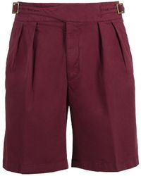 Rubinacci - Red Manny Cotton Shorts - Lyst