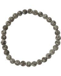 Jan Leslie - Black Matte Snowflake Obsidian Bead Elasticated Bracelet - Lyst