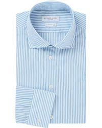 Richard James - Blue And White Bengal Stripe Cotton Shirt - Lyst