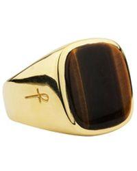 Phira London - 22ct Gold Vermeil Tiger Eye Jamestown Ring - Lyst