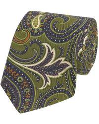 Fumagalli 1891 - Green Paisley Print Malibu Silk 5-fold Tie - Lyst