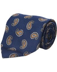 Calabrese 1924 - Blue And Yellow Paisley Silk Tie - Lyst