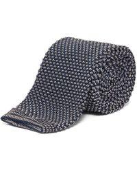 Chester Barrie - Slate Spot Knitted Silk Tie - Lyst