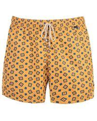 Rubinacci - Yellow Square Foulard Print Swimming Shorts - Lyst