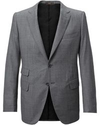 Cifonelli - Grey Single-breasted Two Piece Wool Suit - Lyst
