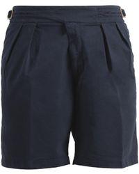 Rubinacci - Navy Manny Cotton Shorts - Lyst