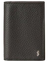 Serapian - Black Italian Calf Leather Cachemire Business Card Case - Lyst