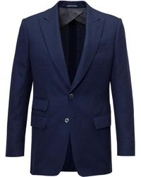 Chester Barrie - Navy Ebury Check Mesh Wool Jacket - Lyst