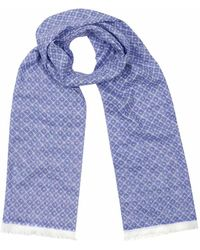 Anderson & Sheppard - Sky Blue Tubular Cotton Tile Scarf - Lyst