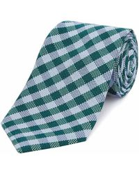 Chester Barrie - Green Gingham Check Silk Tie - Lyst