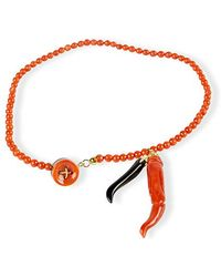 Rubinacci - Coral Onyx And Gold Bracelet - Lyst