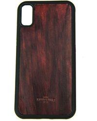 Huitcinq 1988 - Burgundy Handpainted Leather Iphone X Case - Lyst