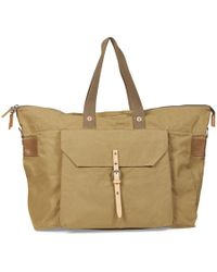 Ally Capellino - Sand Waxed Cotton And Cowhide Freddie Holdall - Lyst