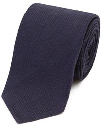 Salvatore Piccolo - Navy Silk And Wool Tie - Lyst