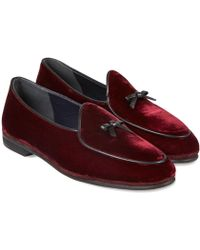 Rubinacci - Bordeaux Marphy Suede Loafers - Lyst