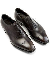 George Cleverley - Antique Steel Nakagawa Leather Oxfords - Lyst