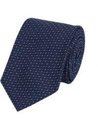 Gieves & Hawkes - Geometric Pattern Silk Tie - Lyst
