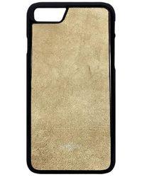 Huitcinq 1988 - Beige Suede Iphone 7 Case - Lyst