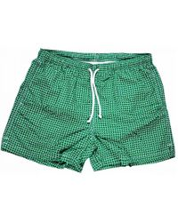 Calabrese 1924 - Green And White Daisy Swim Shorts - Lyst