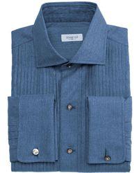 Marol - Full Studded Denim Tuxedo Shirt - Lyst