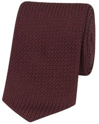 Drake's Wine Silk Grenadine Tipped Tie - Purple