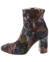 Eugenia Kim - Velvet Floral Print Boots Multicolor - Lyst
