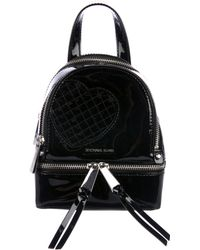 Michael Kors - Patent Leather Mini Backpack Black - Lyst