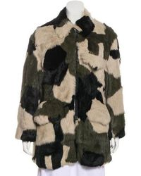3.1 Phillip Lim - Pieced Fur Coat - Lyst
