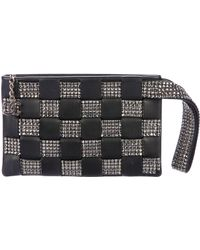 Chanel - Woven Strass Clutch Black - Lyst