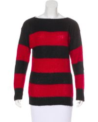 Miu Miu - Miu Striped Long Sleeve Sweater - Lyst