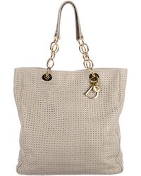 Dior - Woven Leather Shopper Beige - Lyst