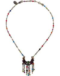 Erickson Beamon - Crystal Necklace Silver - Lyst