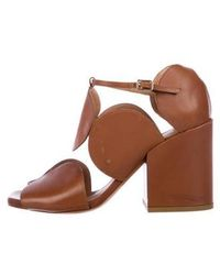5161f44fd9a Lyst - Dries Van Noten Snakeskin Cage Sandals Tan in Natural