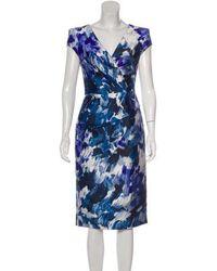 Lela Rose - Brush Stroke Print Knee-length Dress Multicolor - Lyst