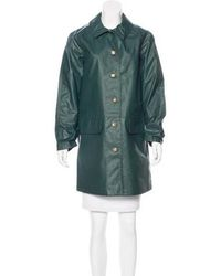 Trademark - Water Resistant Knee-length Coat Green - Lyst