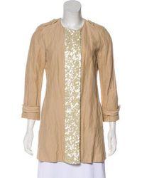 Gryphon - Embellished Short Coat Beige - Lyst