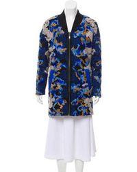 Sachin & Babi - Textured Zip-up Coat Navy - Lyst