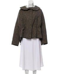 Hache - Printed Short Coat Black - Lyst
