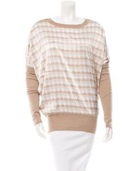 Thomas Wylde - Cashmere Patterned Top W/ Tags Tan - Lyst