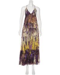 Jean Paul Gaultier - Printed Maxi Dress Beige - Lyst