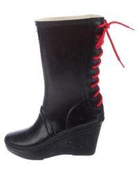 HUNTER - Rubber Wedge Rain Boots - Lyst