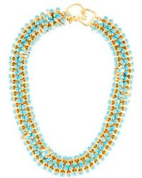 Kenneth Jay Lane - Resin Rope Double Strand Necklace Gold - Lyst