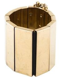 Roberto Cavalli - Wide Link Bracelet Gold - Lyst