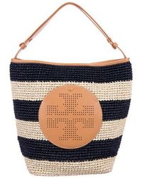 Tory Burch - Striped Straw Tote Natural - Lyst