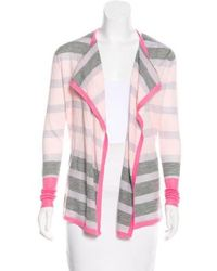 Clements Ribeiro - Striped Open-front Cardigan Pink - Lyst