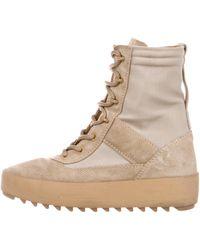 Yeezy - Season 3 Military Boots Beige - Lyst
