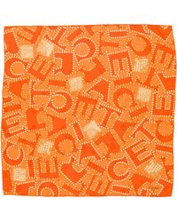 Cartier - Silk Printed Scarf Orange - Lyst