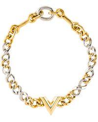Louis Vuitton - Link Collar Necklace Gold - Lyst