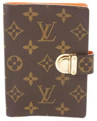 3390398365c3 Louis Vuitton - Koala Small Ring Agenda Cover Brown - Lyst. Louis Vuitton - Damier  Ebene Zippé Compact Wallet ...
